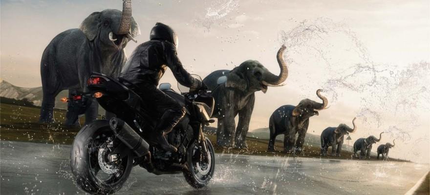 Conduire moto sous la pluie