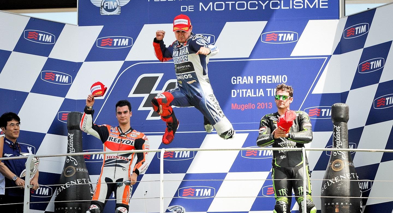 Le podium du motoGp d'Italie