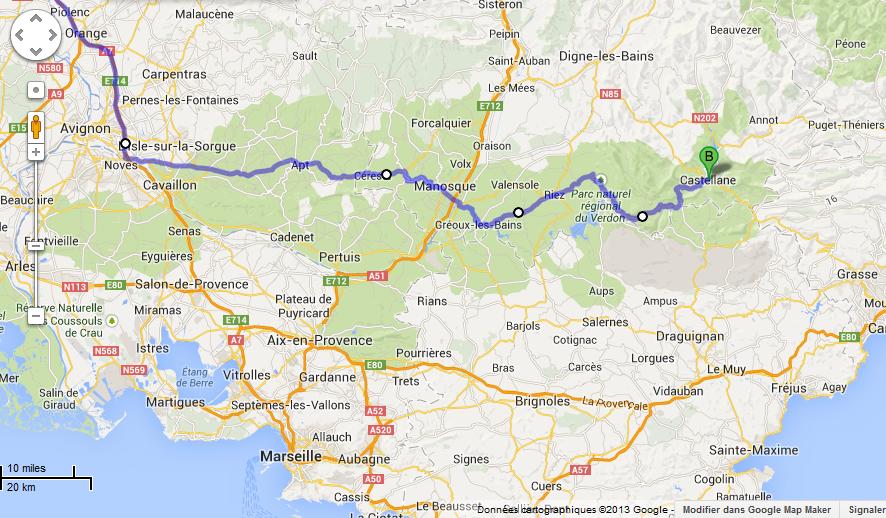 itineraire moto verdon