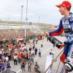 Lorenzo sur le podium