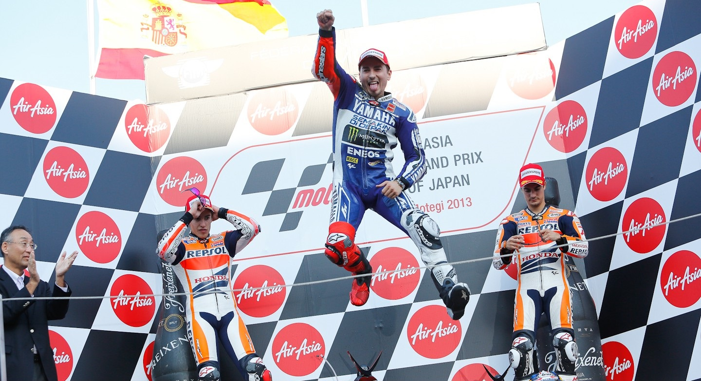 podium motogp japon