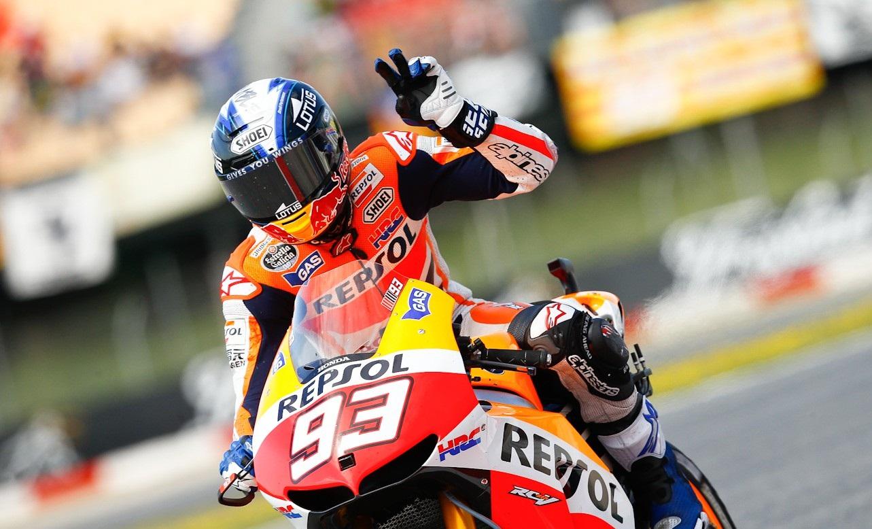 Le casque de Marquez en Catalogne