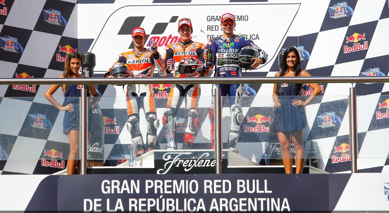 Le podium du grand prix d'Argentine