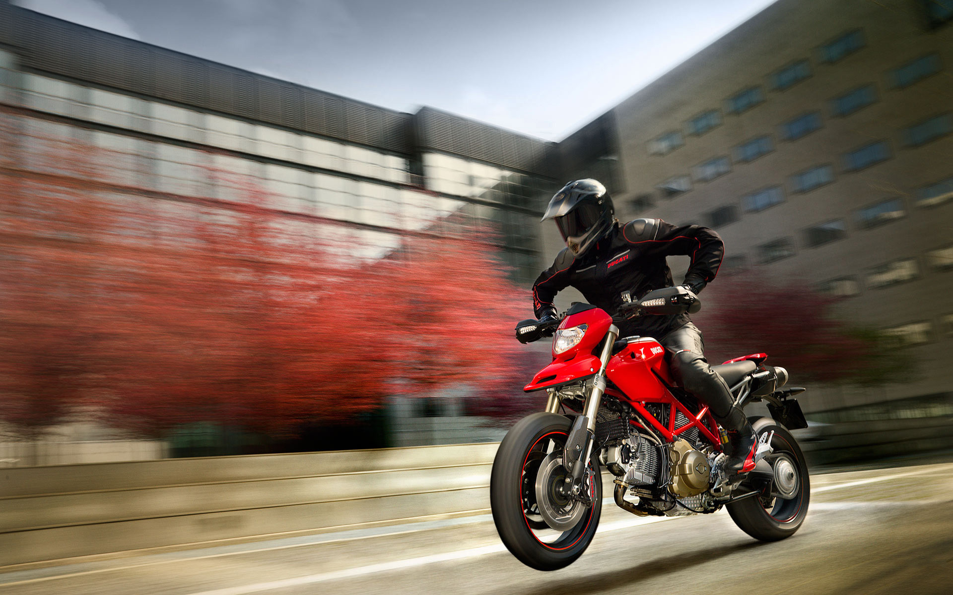 wallpaper supermoto ducati stunt