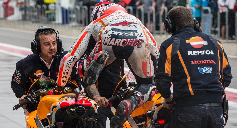 Changement de moto tardif pour Marquez