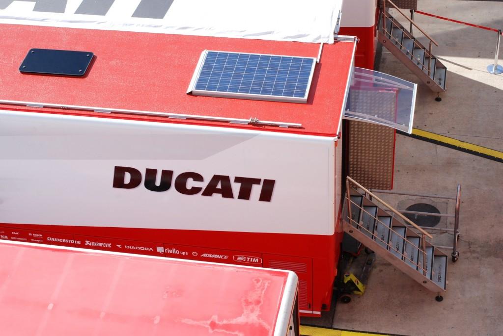 Dans les paddocks de Ducati