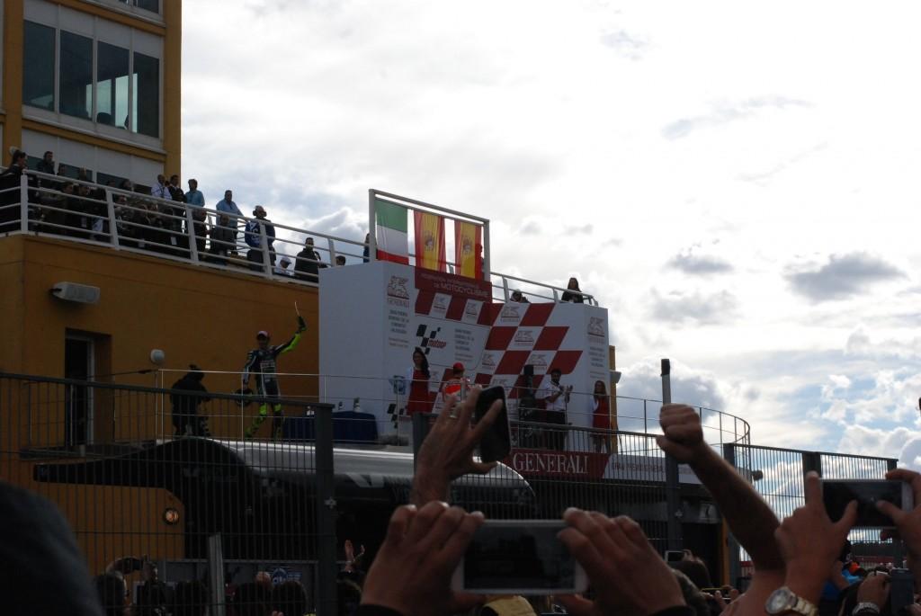 Le podium du motogp de Valence