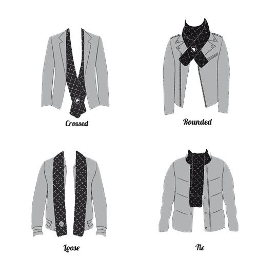L'art de porter l'écharpe