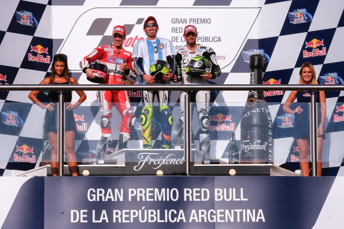 Le podium du Motogp 2015 d'Argentine