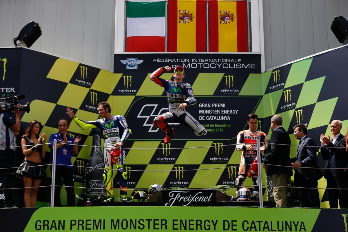 Lorenzo, Rossi et Pedrosa sur le podium