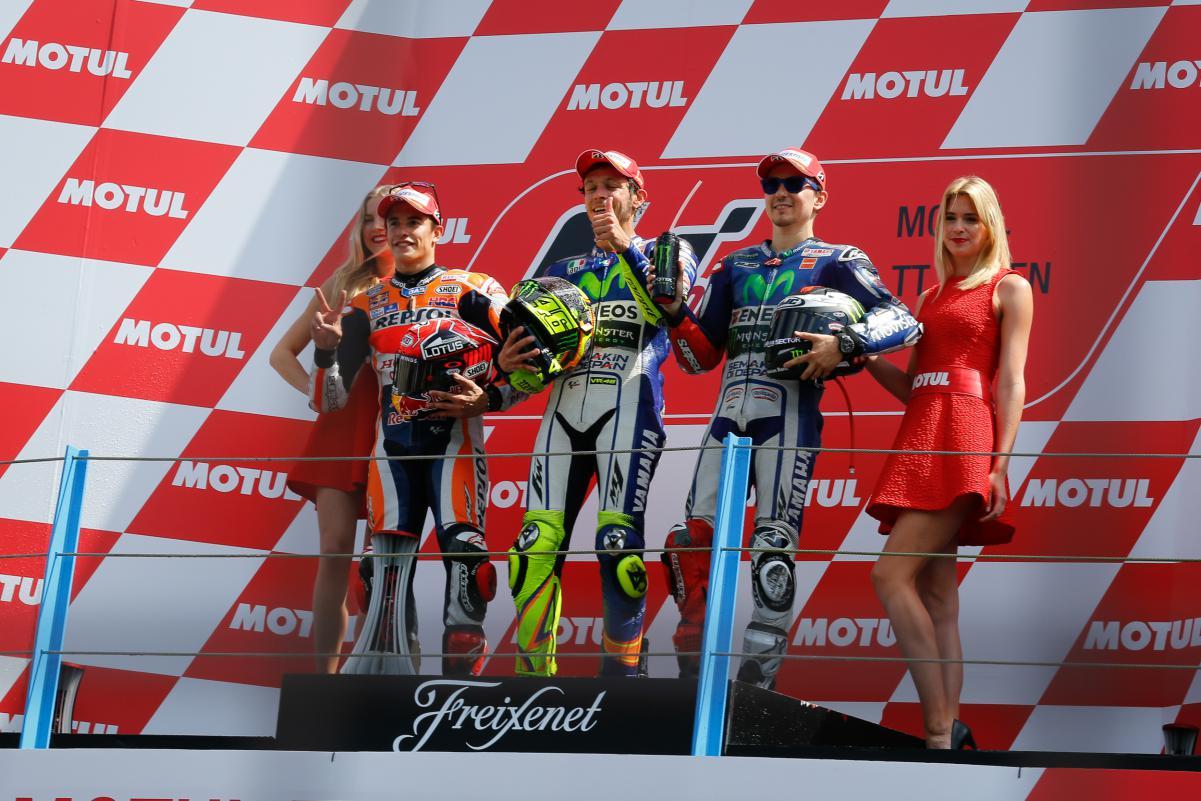 Le podium du motogp à Assen