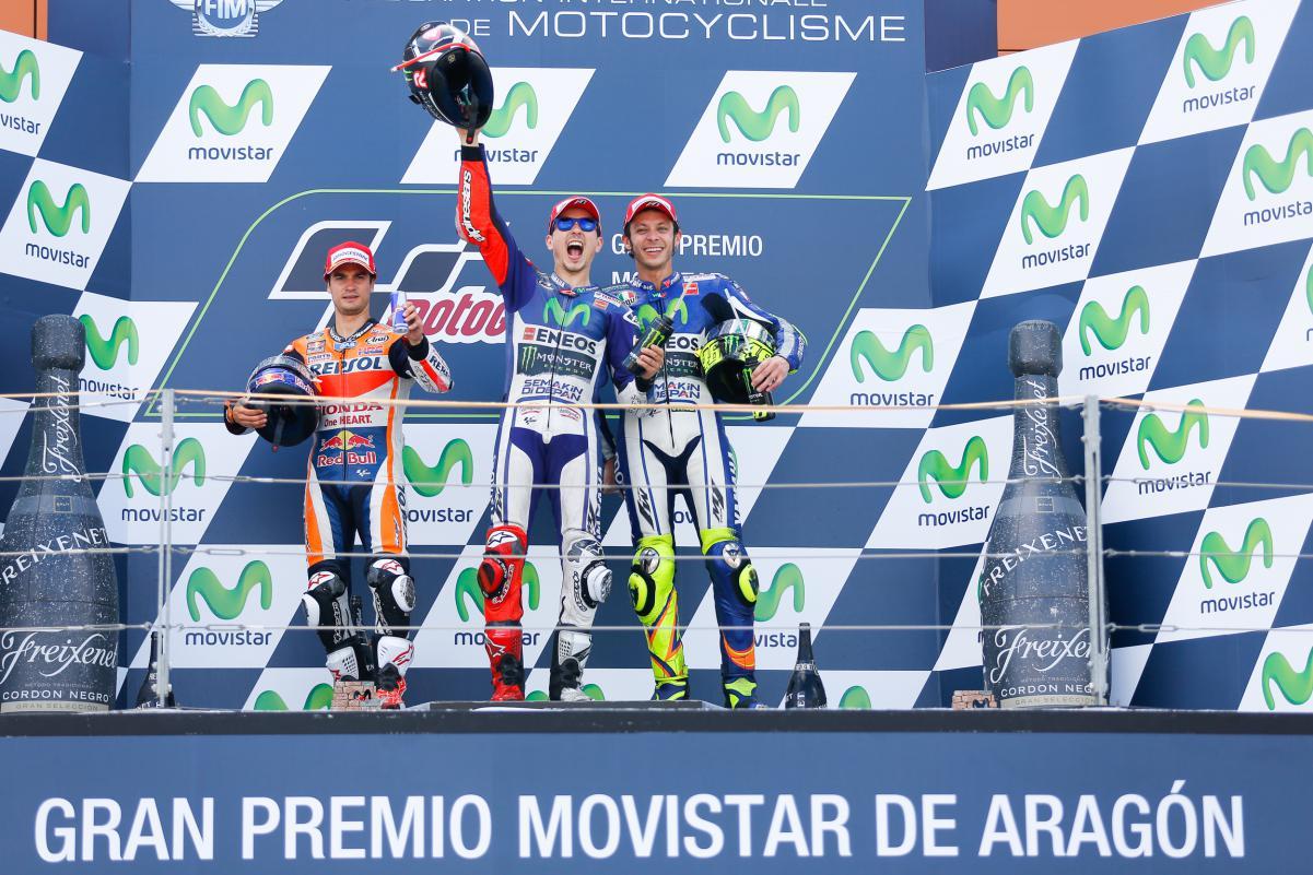 podium aragon 2015