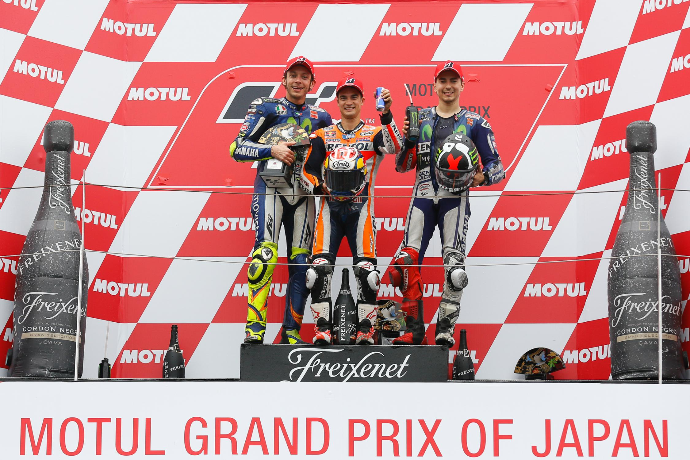 Le podium du Motegi 2015