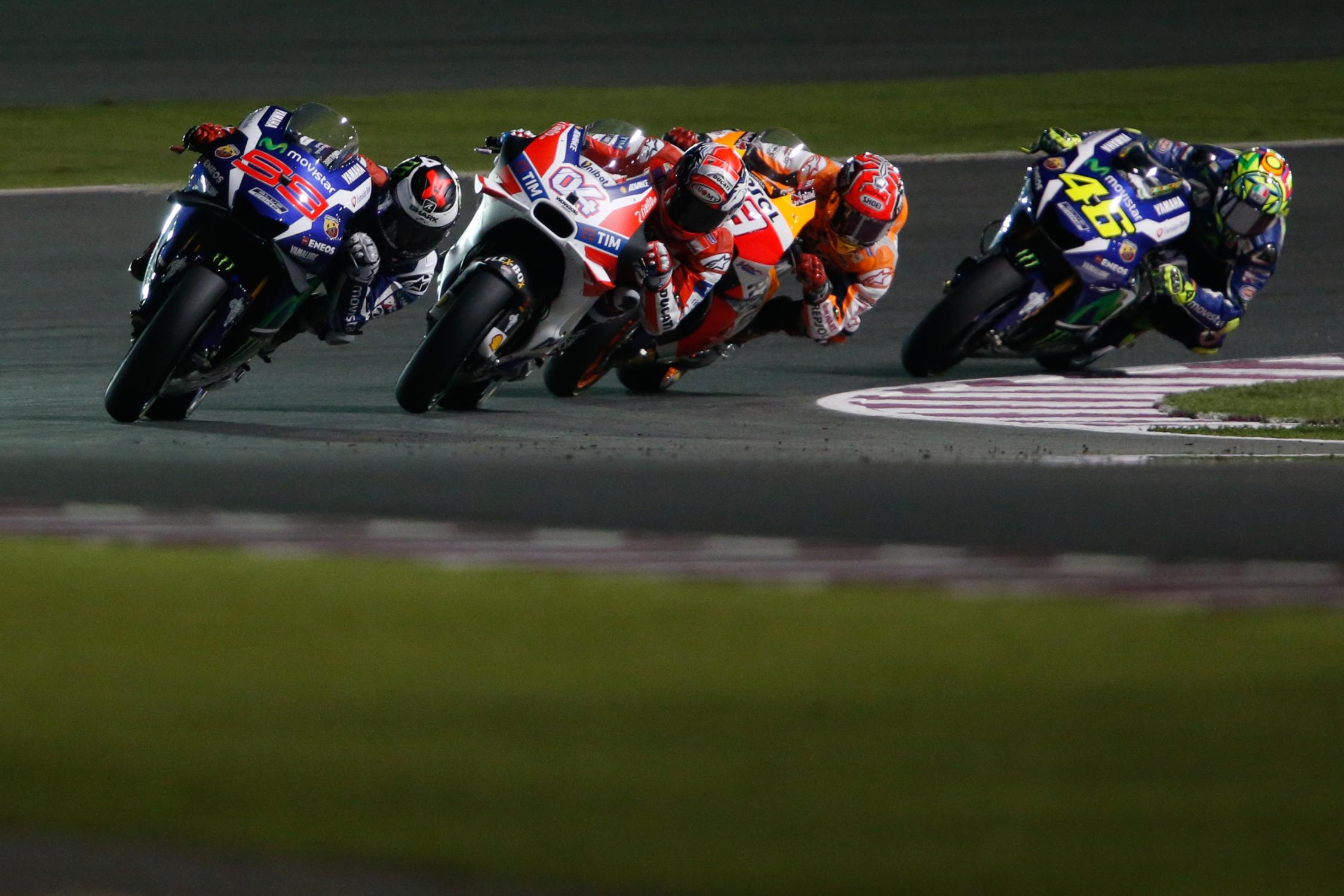 MotoGP du Qatar 2016 : les résultats | La poignée dans l'angle