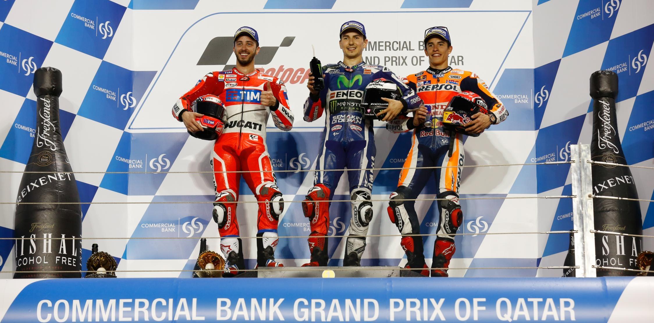 podium qatar motogp 2016