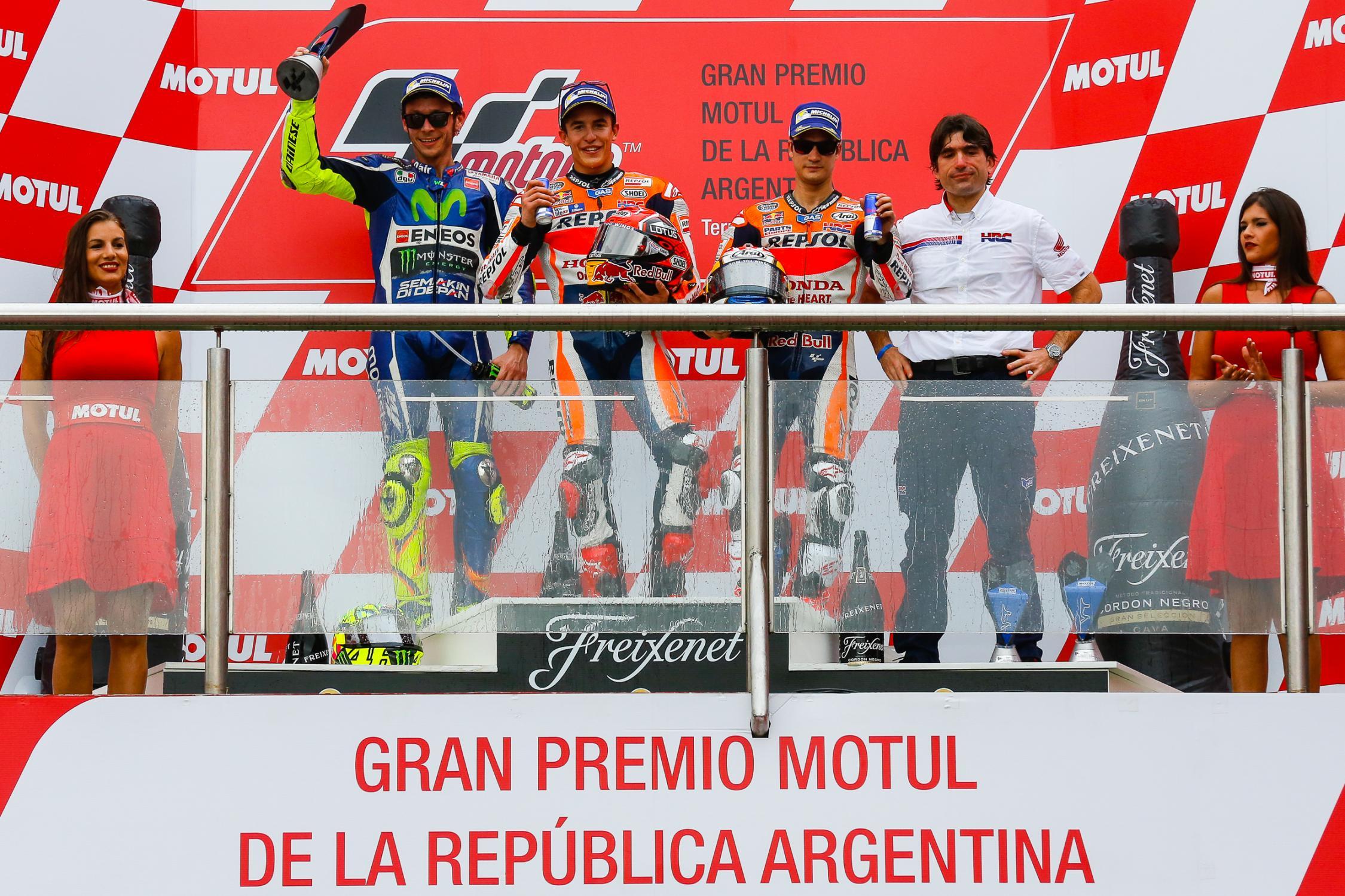 motogp argentine podium