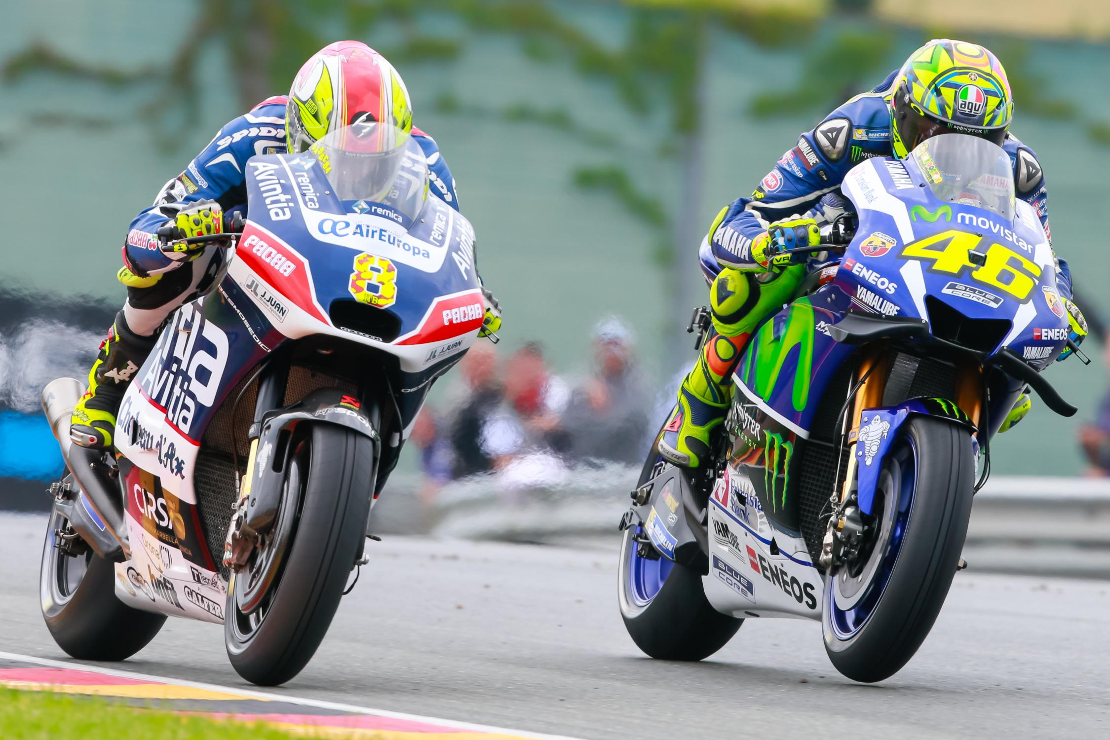 hector barbera fight valentino rossi