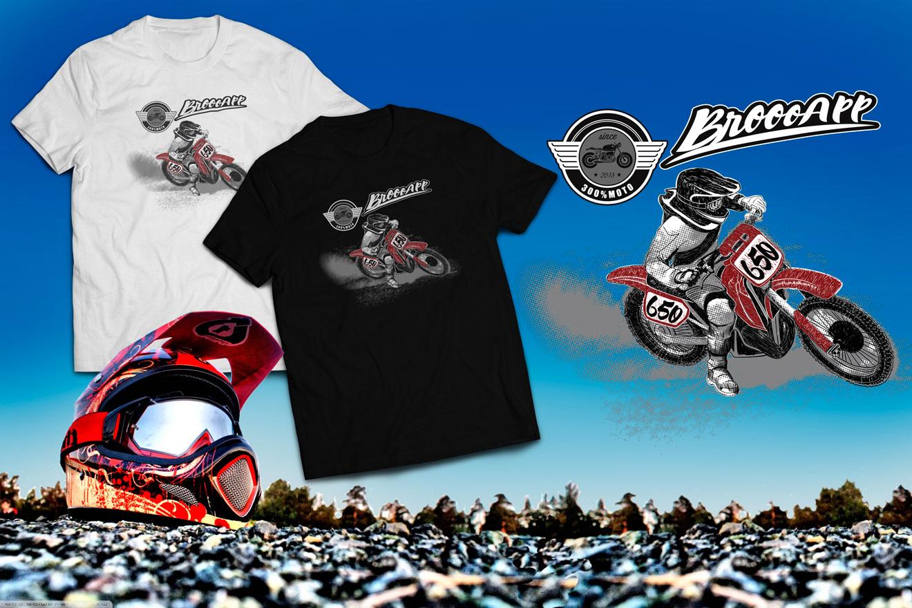Tshirt motocross