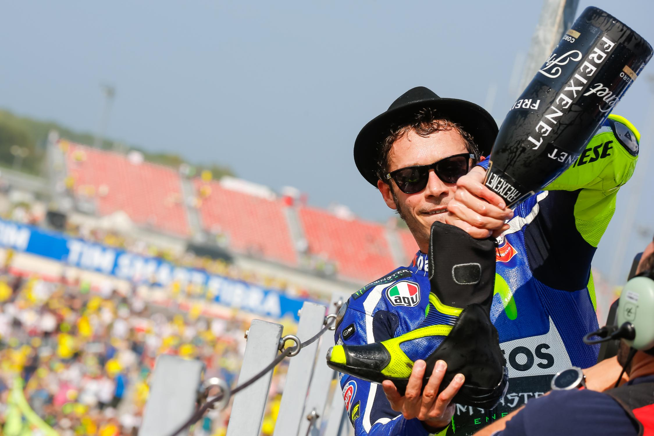 valentino rossi celebration