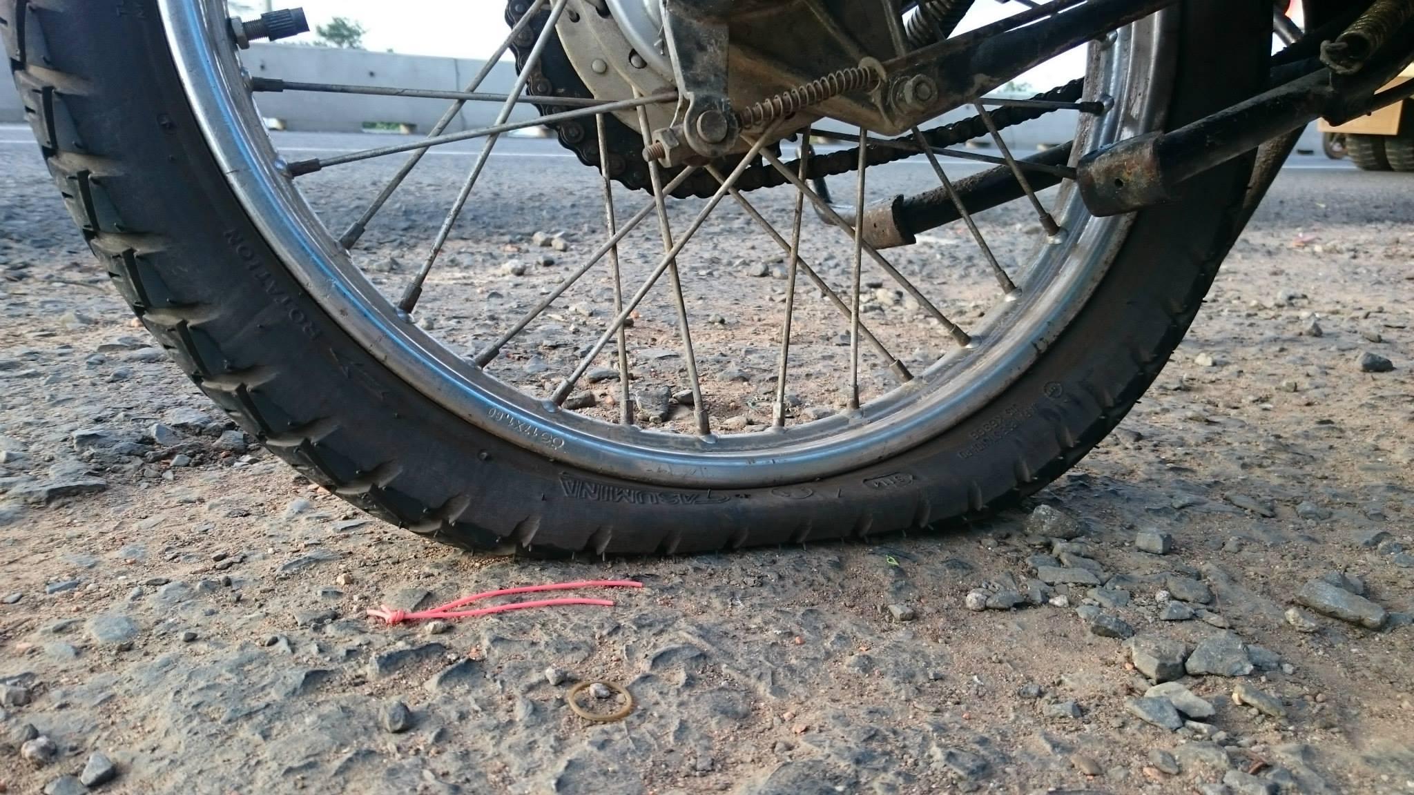 pneu creve