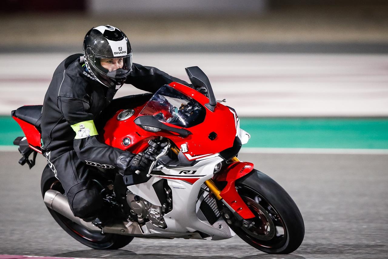 Les Power RS testés sur une Yamaha R1 sur le circuit de Motogp du Qatar